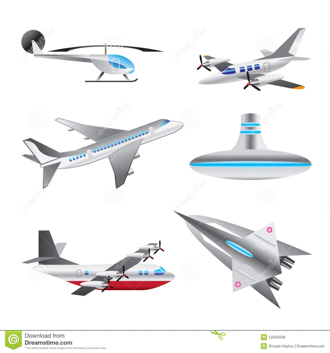 Different Types Of Aircraft Illustrations Royalty Free ... - photo#17