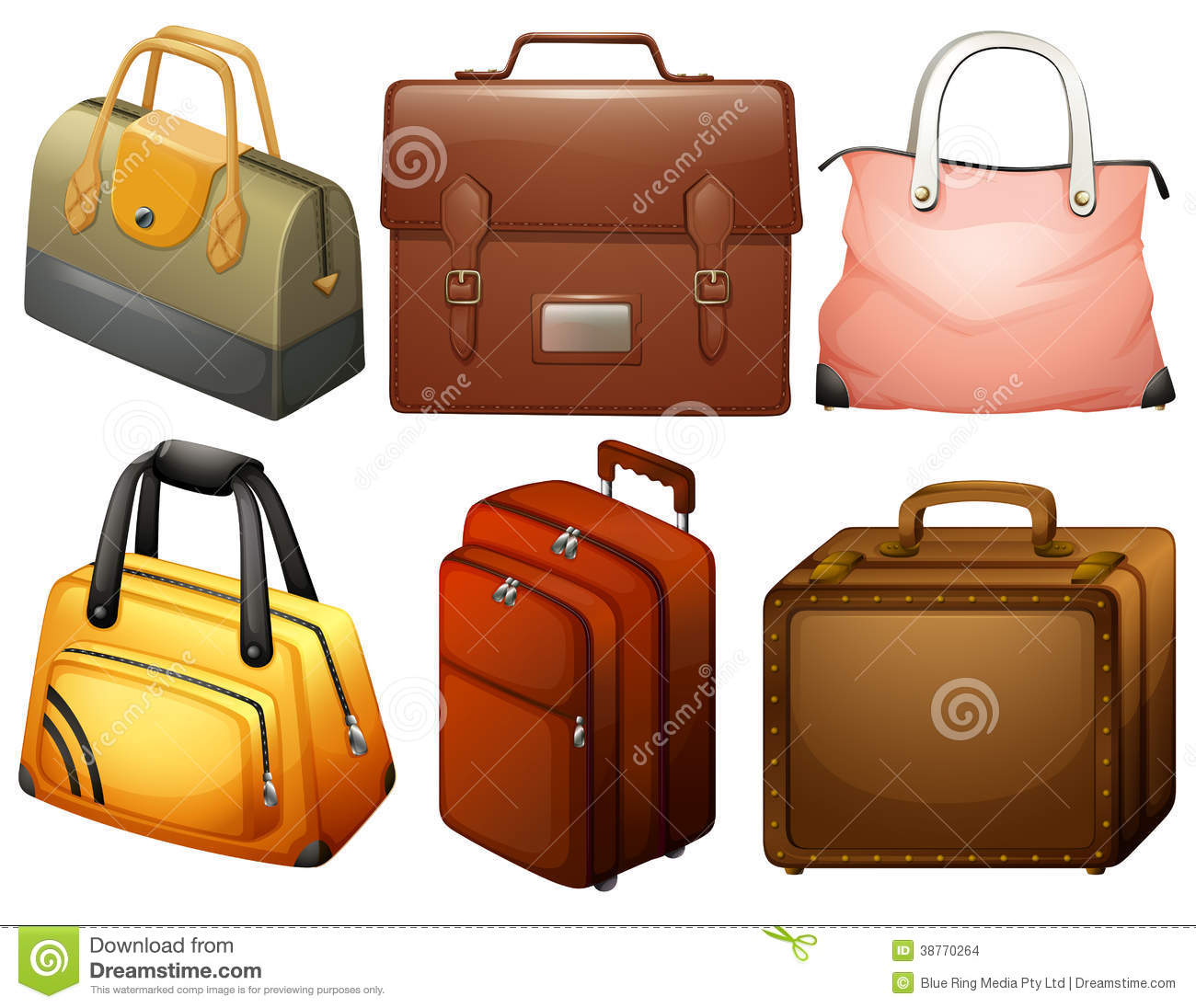 Different Types Of Bags Stock Images - Image: 38770264