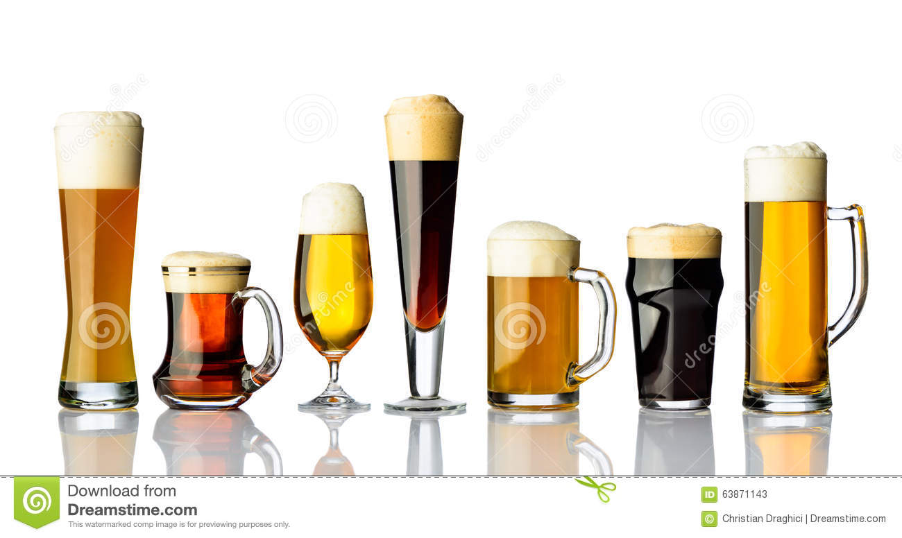 Different Types Of Beer Stock Image. Image Of Bitter