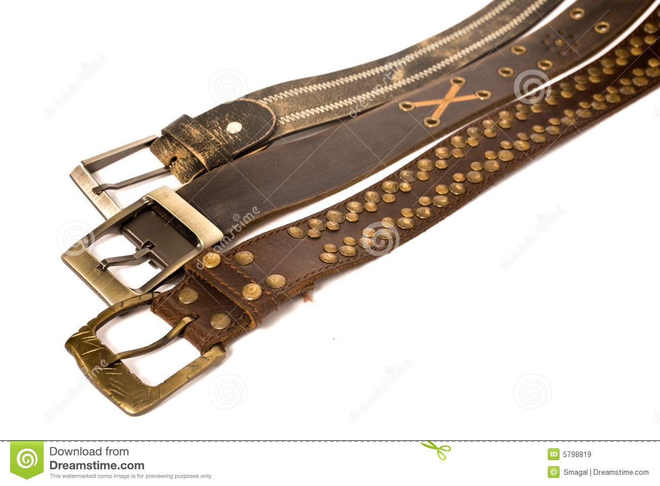 Different Types Of Belt Royalty Free Stock Images