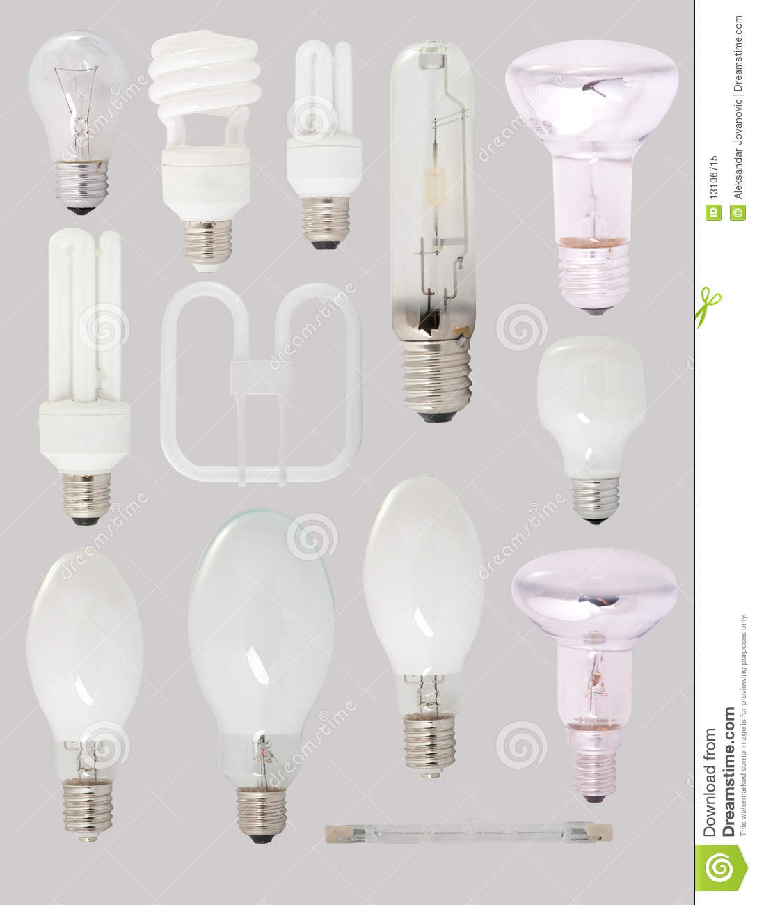 Different Types Of Bulbs Royalty Free Stock Photo Image 13106715