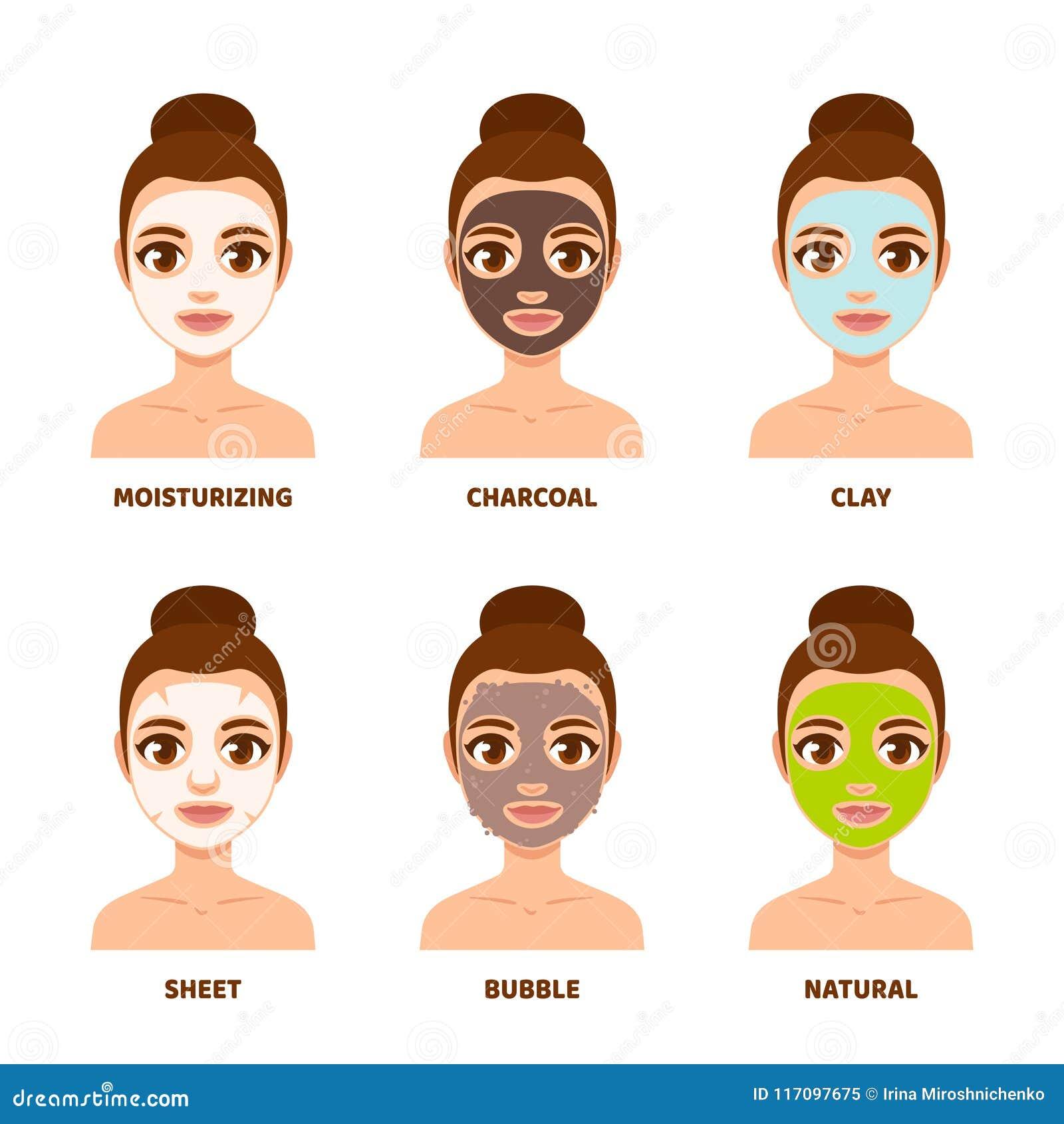 Face Mask Skin Care Set Stock Vector Illustration Of Design 117097675