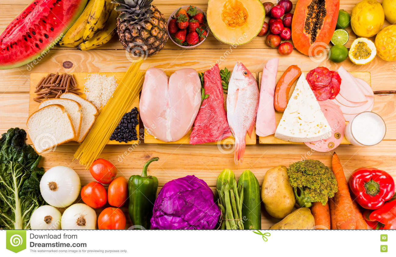 Different types of foods stock image image of multi 70678977 - Different types of entrees ...