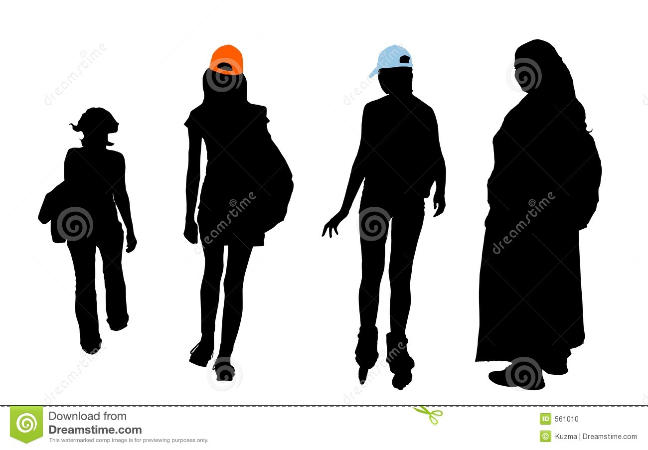 Different Types Of Girls With Clipping Pathes Stock Photo - Image ...