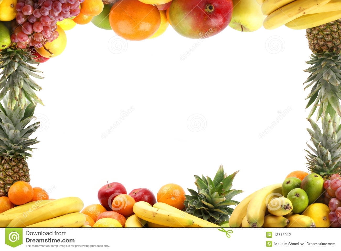 Different Types Of Healthy Fruits Stock Photo - Image of