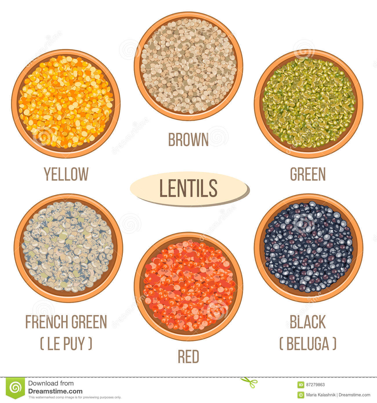 Different Types Of Lentils In Bowls Basmati Wild