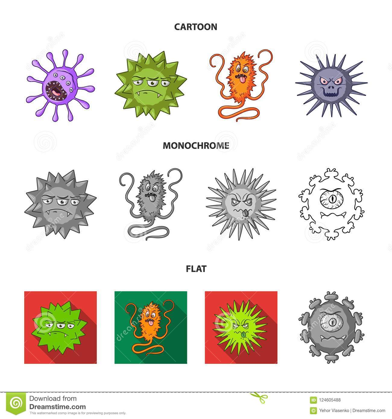 different types of microbes and viruses  viruses and