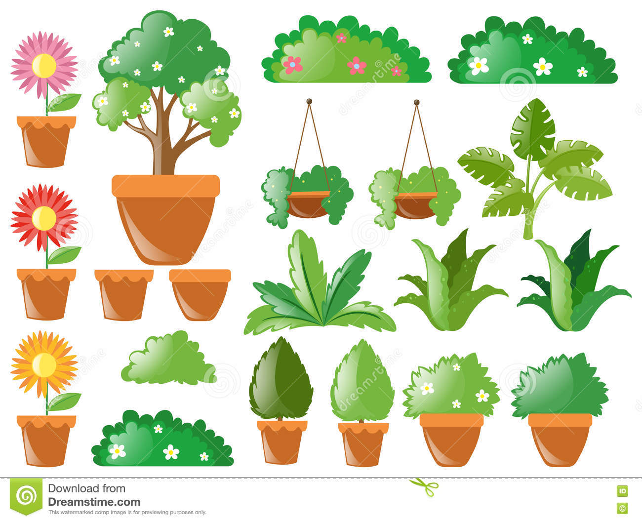Different types of plants stock vector illustration of for Different kinds of plants