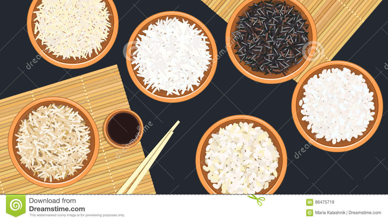 Wild And Long Polished Rice Royalty Free Stock Image