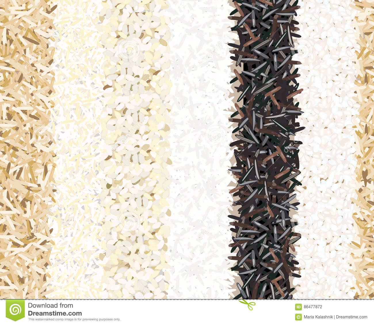 Wild and long polished rice royalty free stock image 52143952 - Six alternative uses of rice at home ...