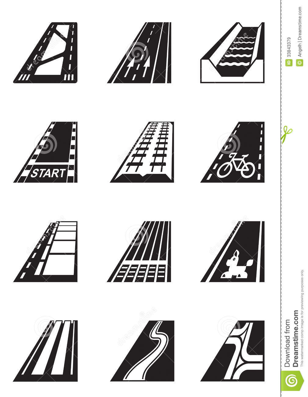Different types of roads royalty free stock images image - Differents types de miroirs ...