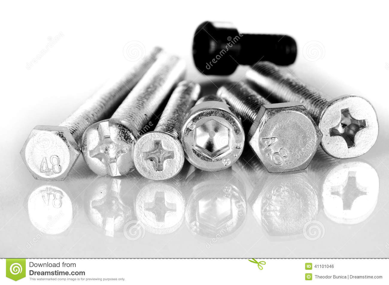 Different types of heads stock photo  Image of screws - 41101046