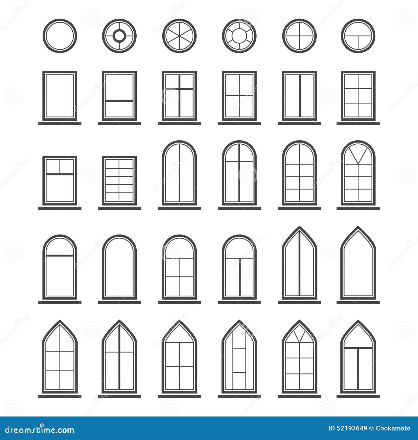 Types Of Windows Stock Illustration - Image: 59876750