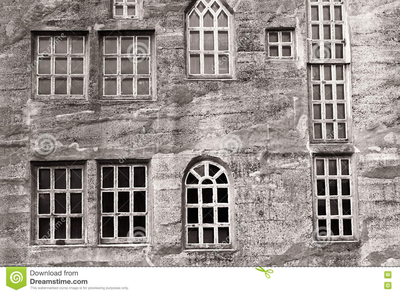 Concrete Building With Windows : Different types of windows stock photo image