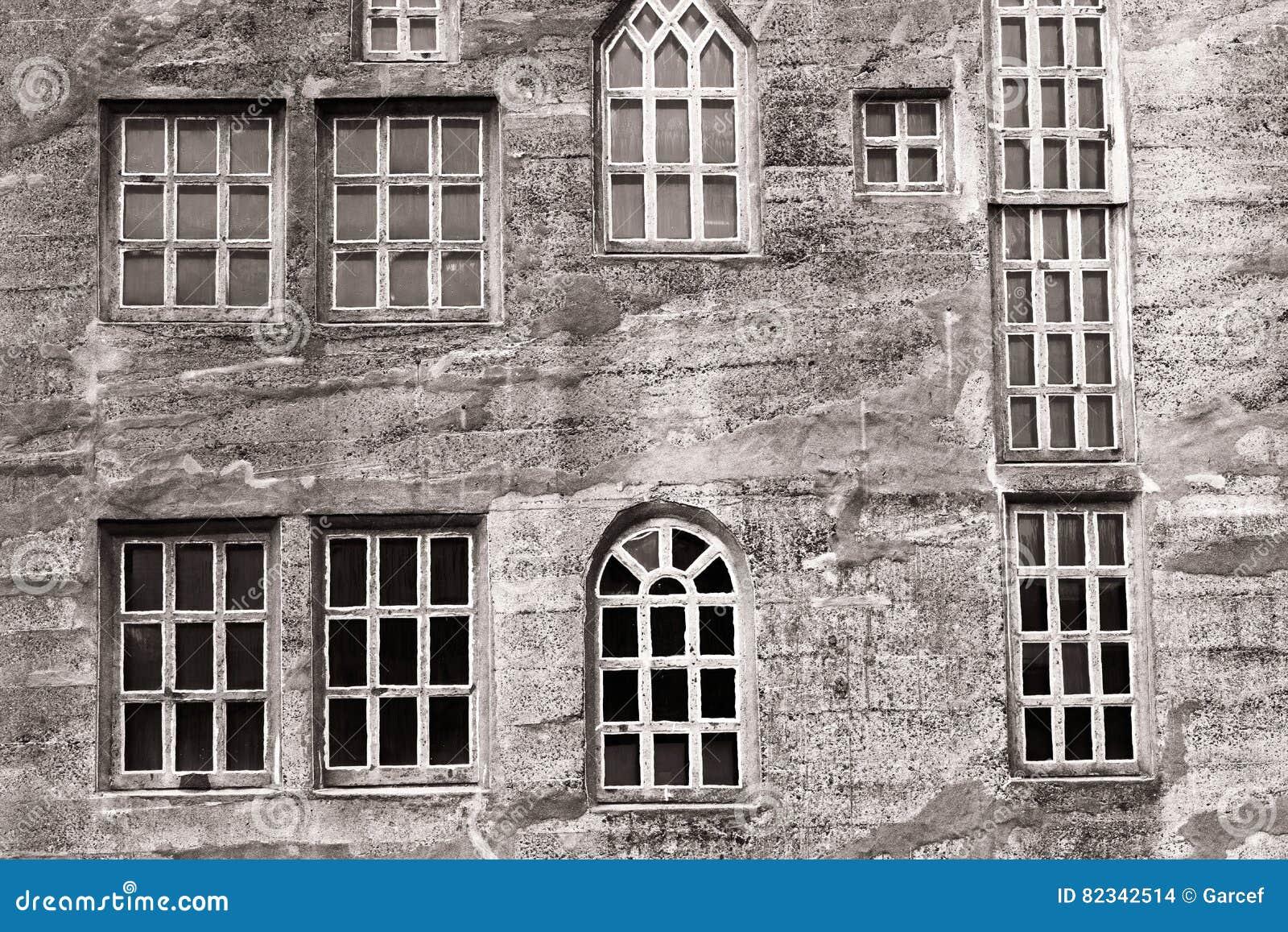 Historic window types - Different Types Of Windows Stock Photo
