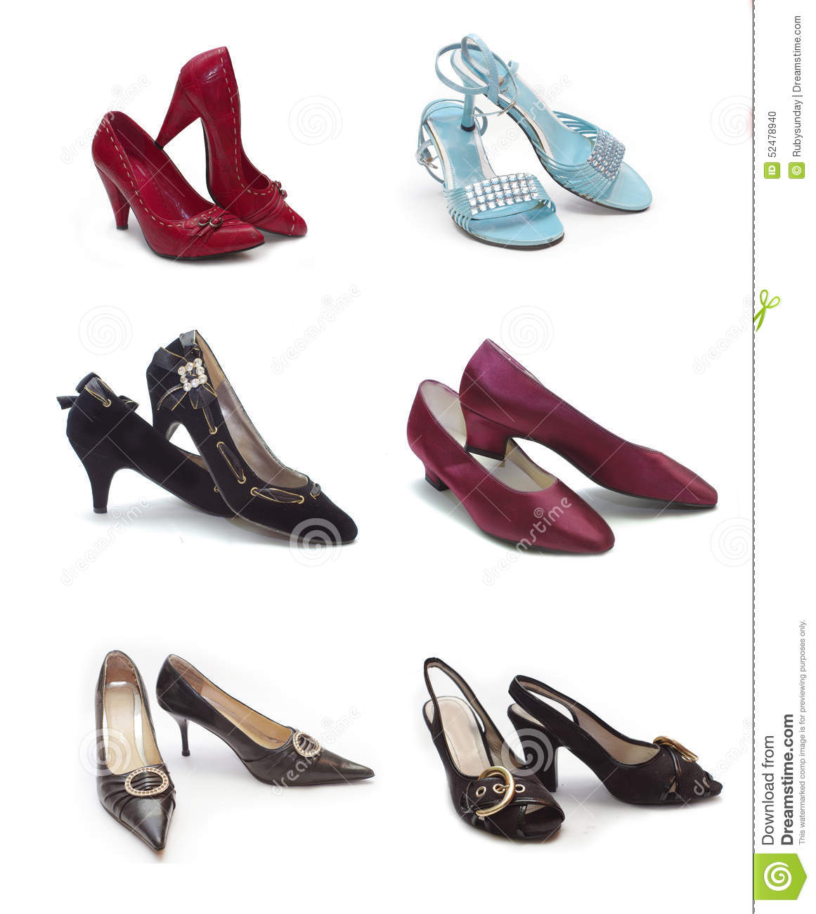 ef187598a34ded Different Types Of Woman Shoes Stock Photo - Image of stiletto ...