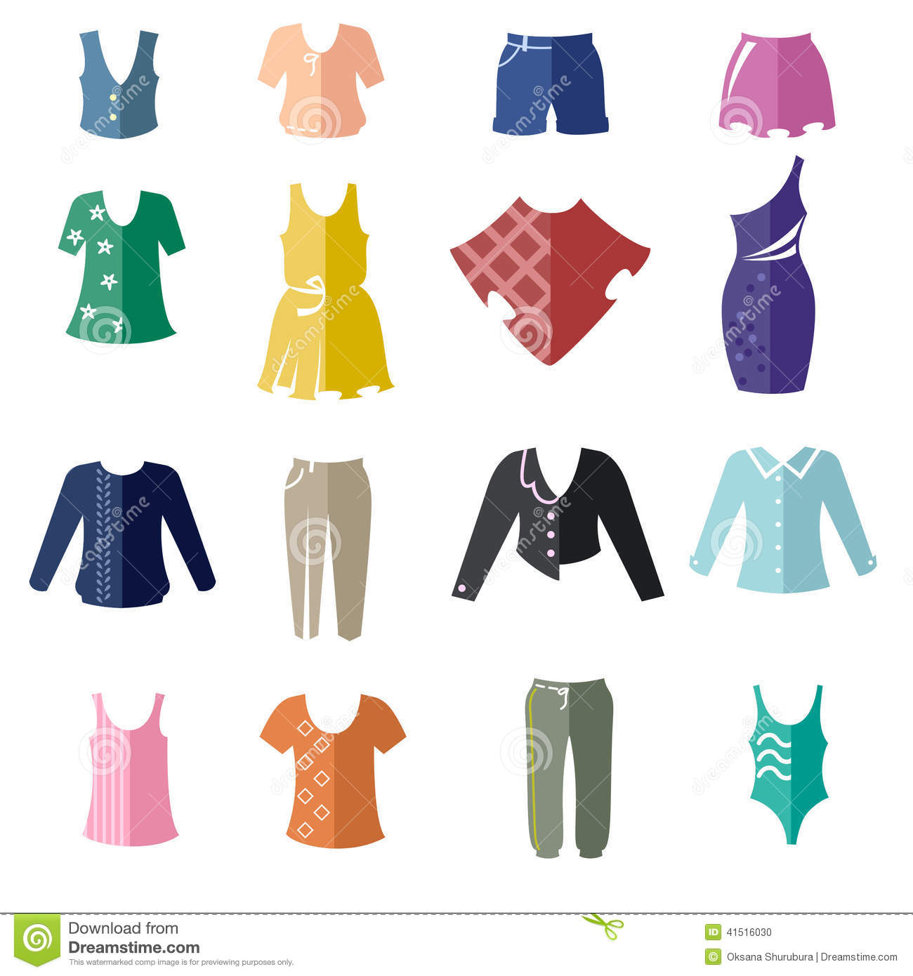 Types of clothes for women