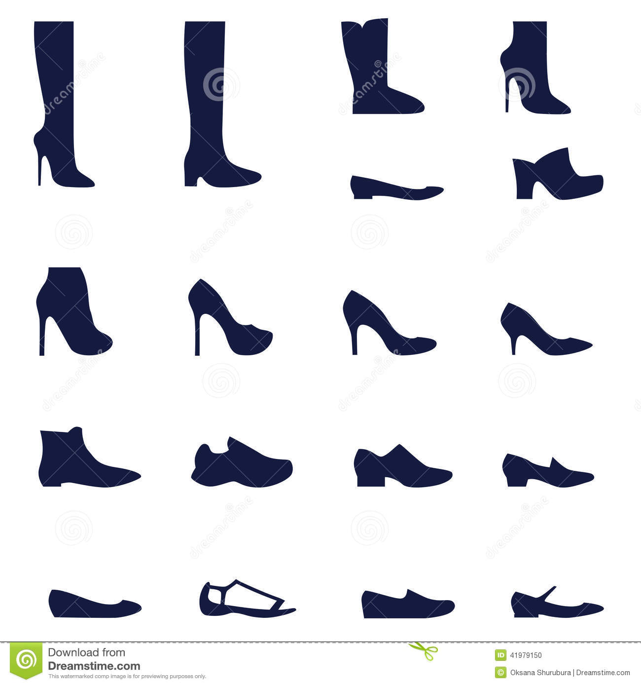different styles of womens shoes