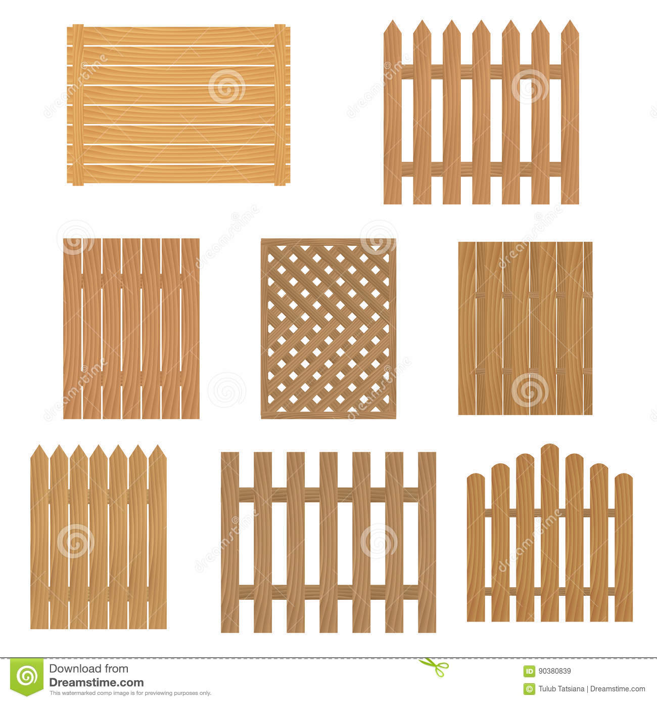 extraordinary types of wooden fence styles plans