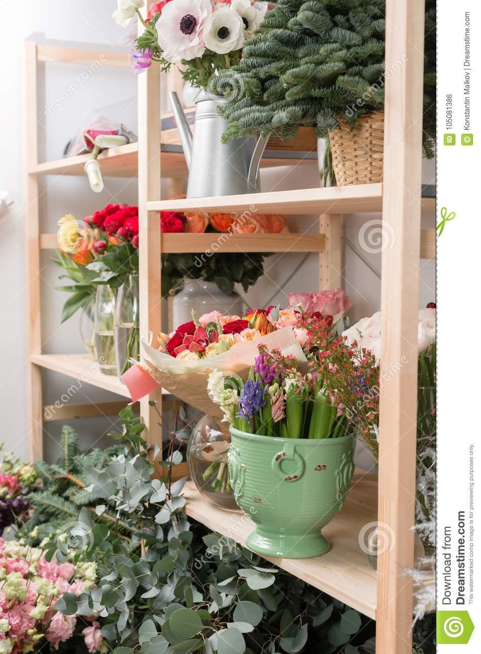 Different varieties fresh spring flowers in refrigerator for royalty free stock photo download different varieties fresh spring flowers in refrigerator for flowers mightylinksfo