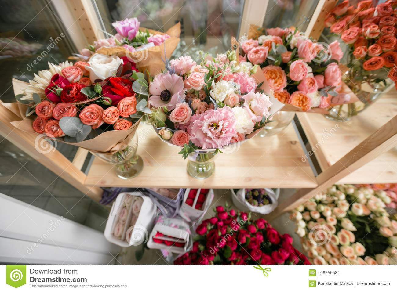 Different varieties fresh spring flowers in refrigerator for download comp mightylinksfo