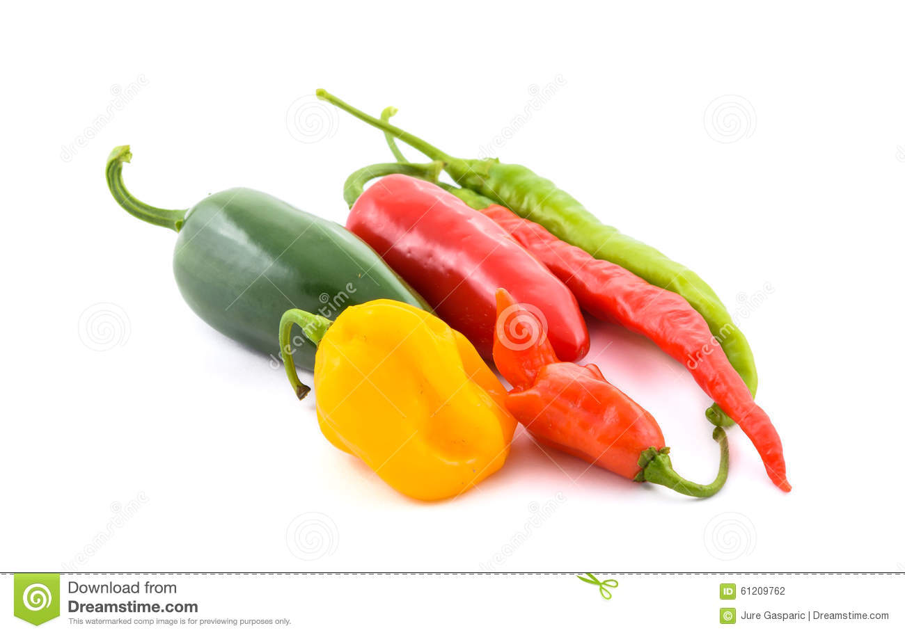 Different Variety of chillies