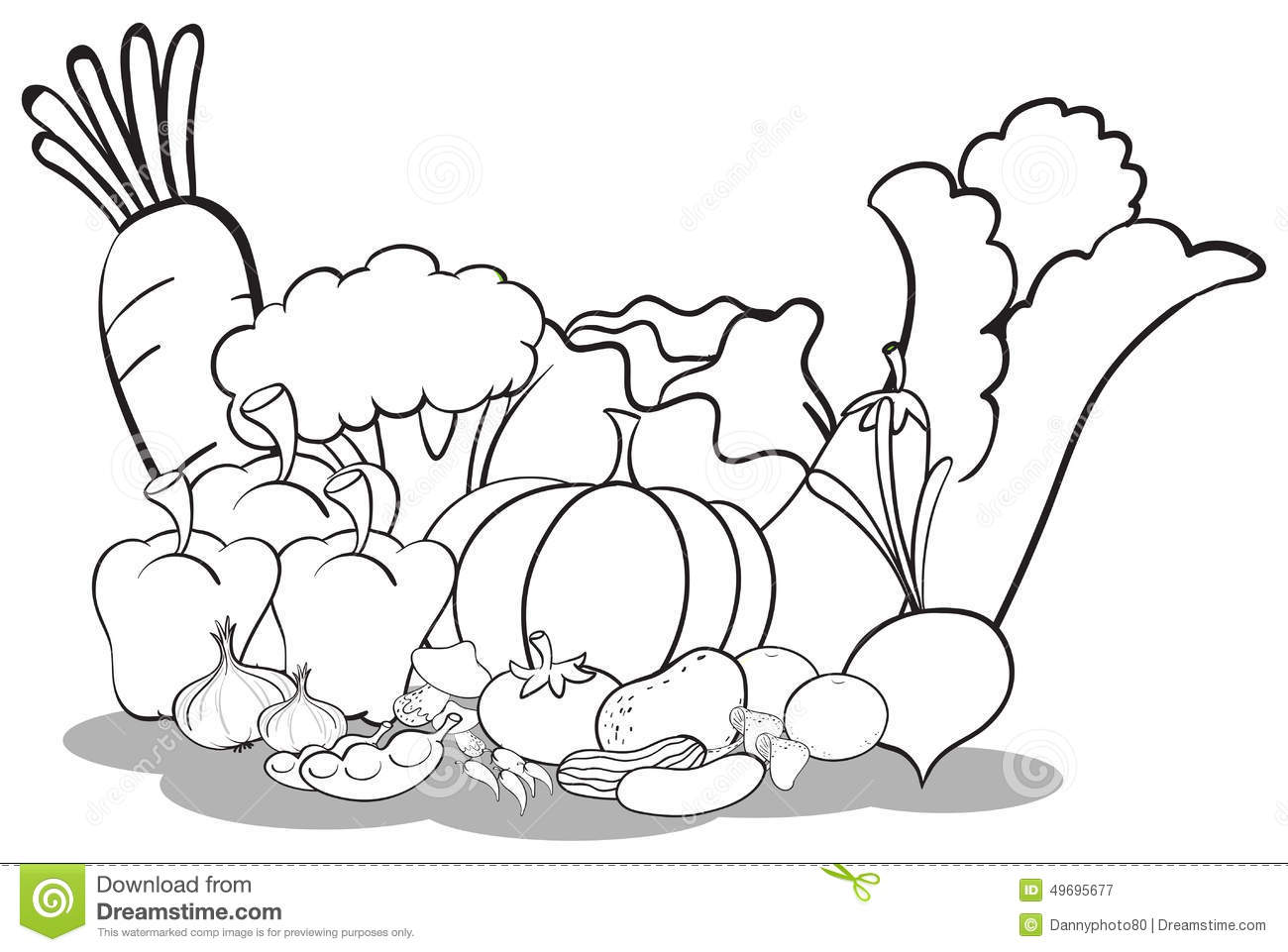 Different Vegetables Stock Vector Image Of Color Artwork
