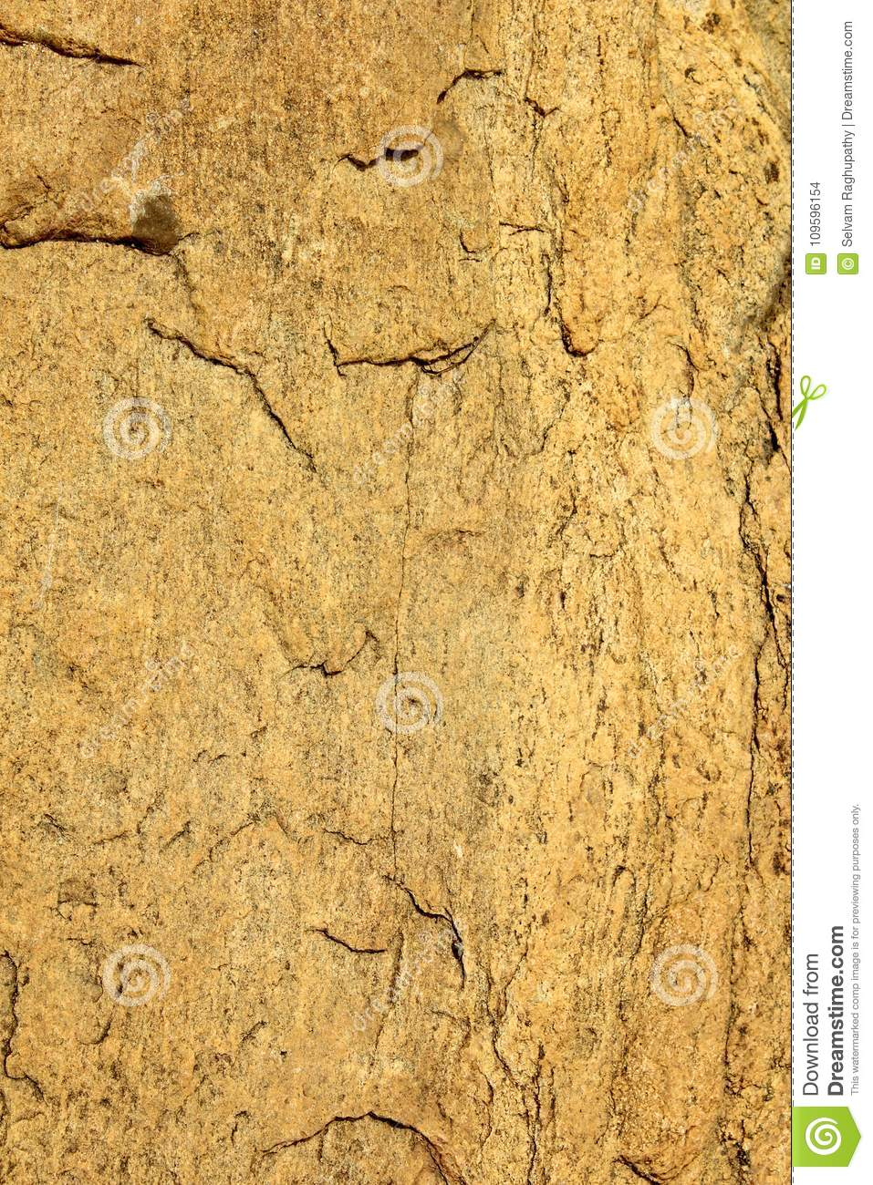 A different vertical frame of cracked rock texture natural background.