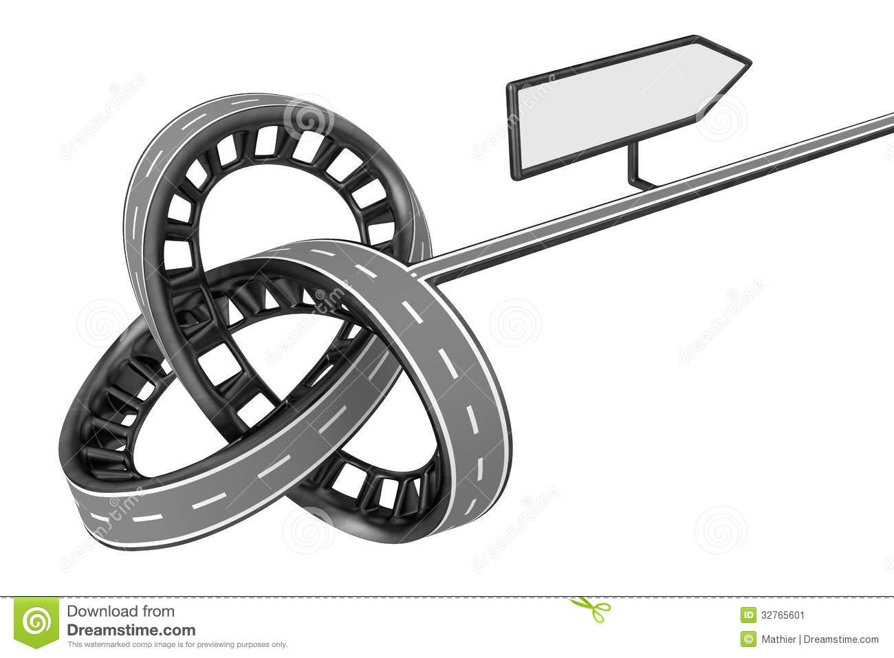 Different Way With Blank Sign Stock Image Image 32765601