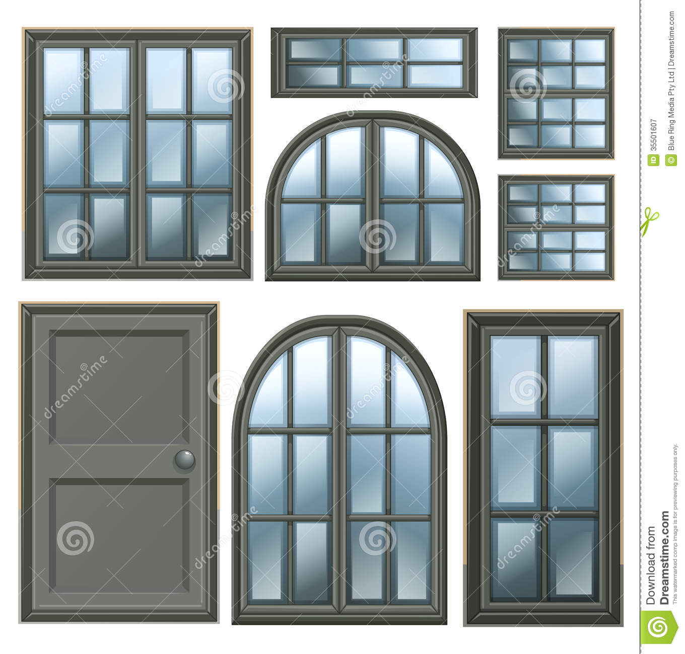 Different Windows Design Stock Vector Image Of
