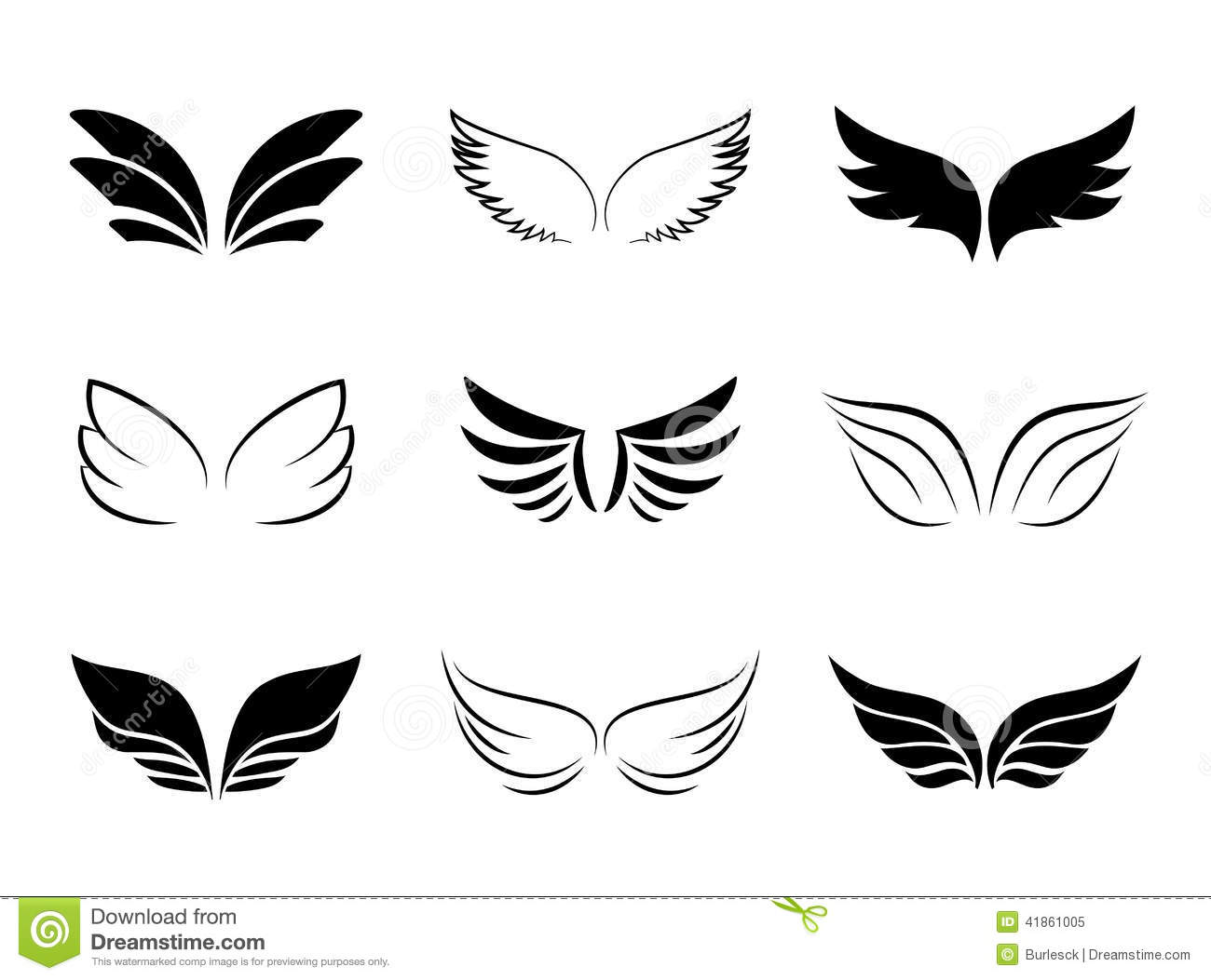 Different wing designs stock vector image of graphical for Different design
