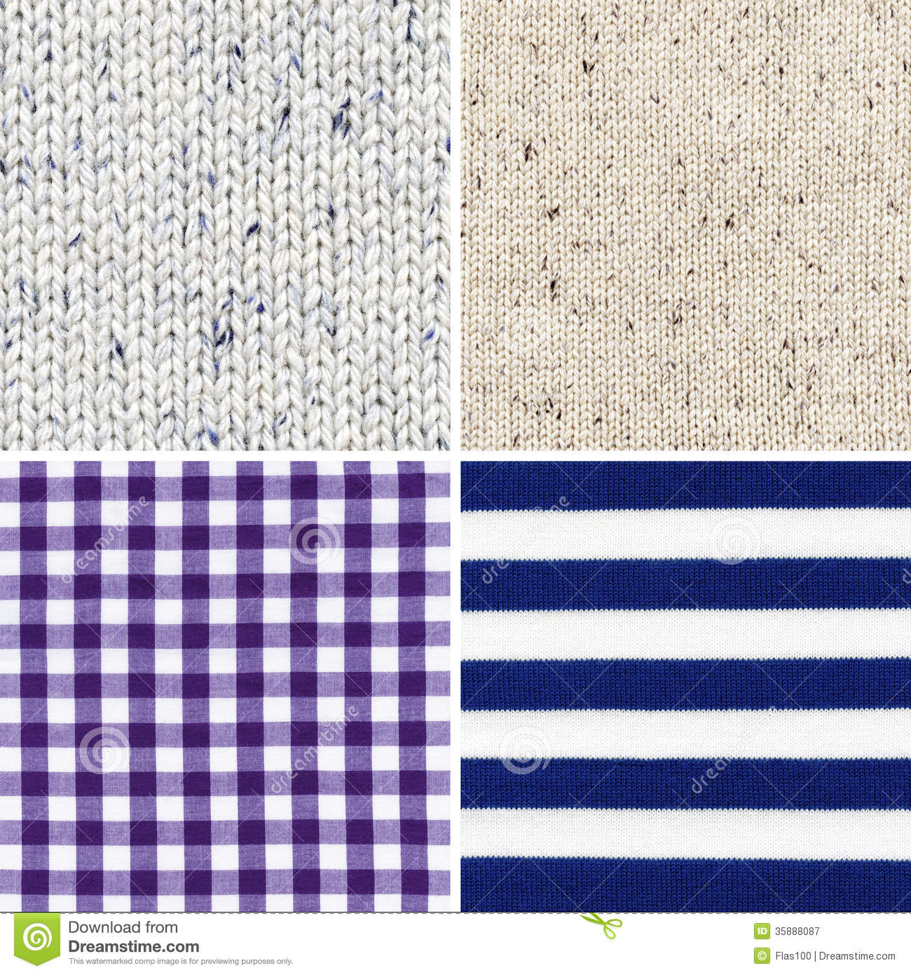 Different Woven Fabric Texture Royalty Free Stock