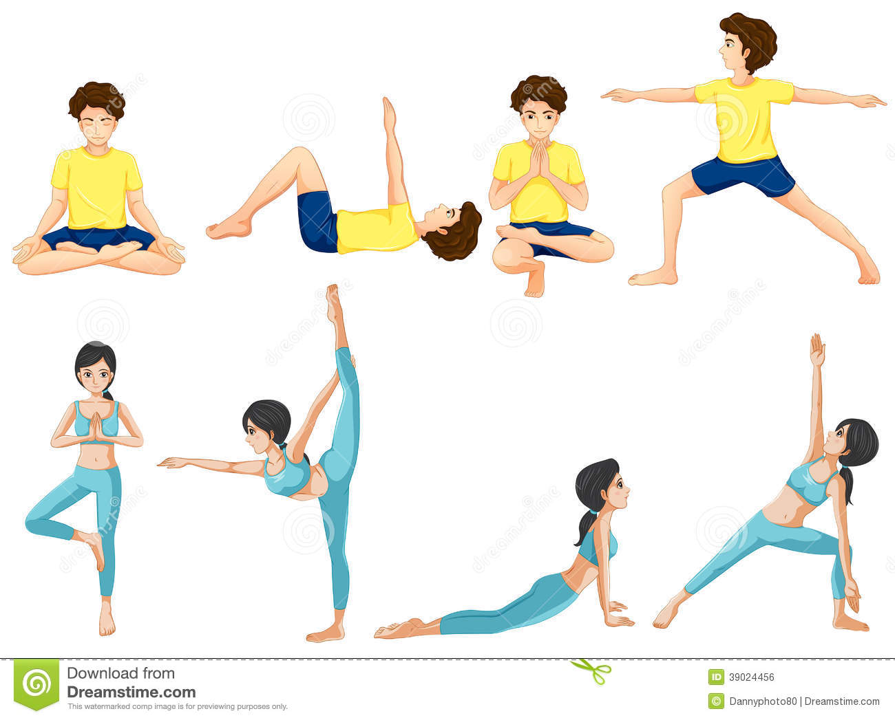Yoga Poses Sketch Stock Photos, Images, & Pictures - 114 Images