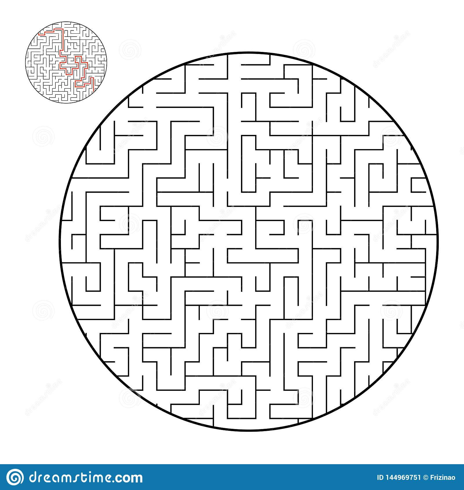 Difficult Big Maze. Game For Kids And Adults. Puzzle For ...