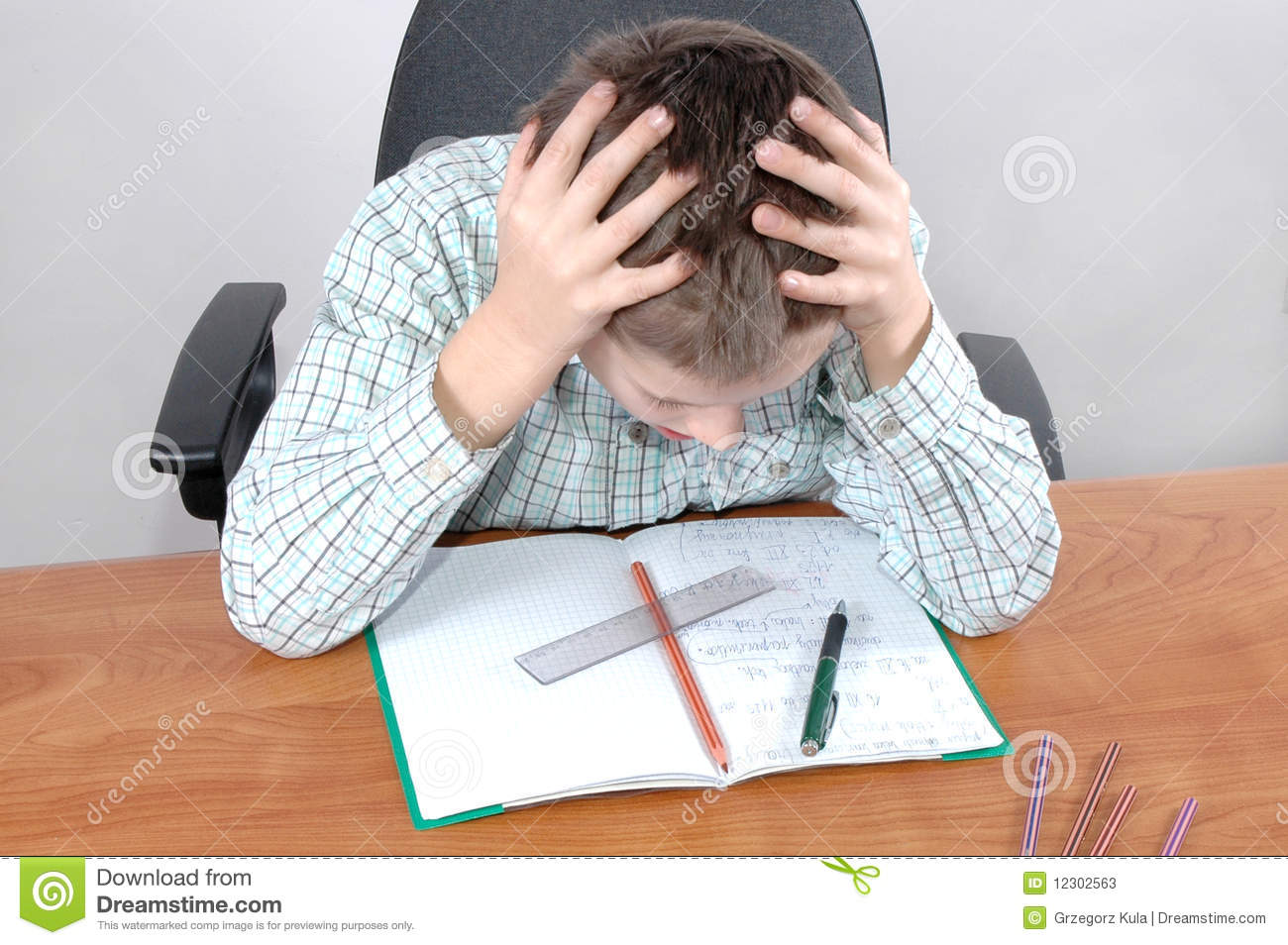 Difficult Homework Stock Photos - Image: 12302563