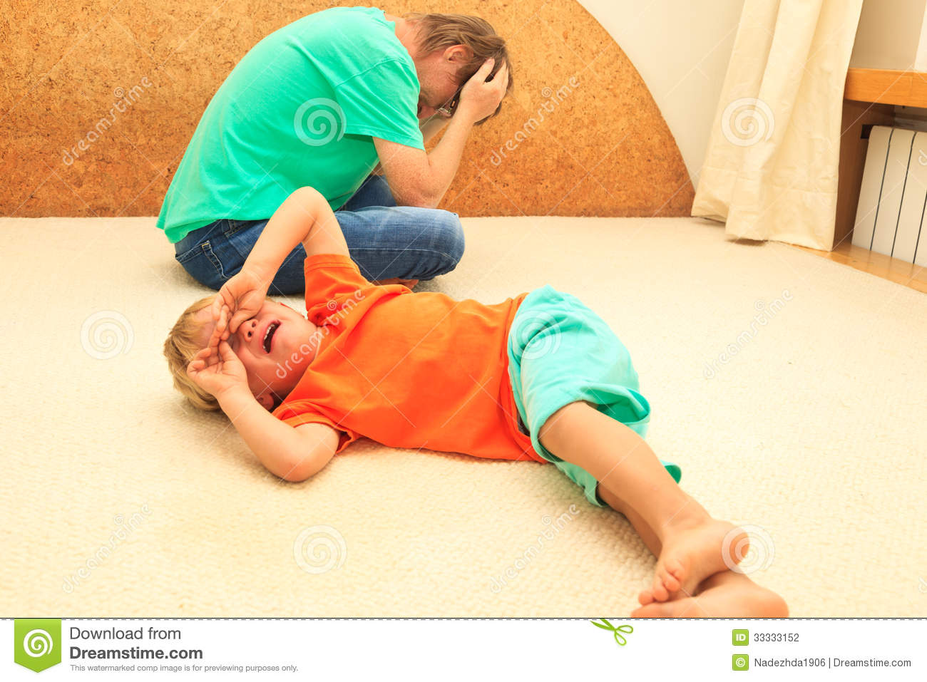 Difficult parenting stock photo. Image of shouting ...