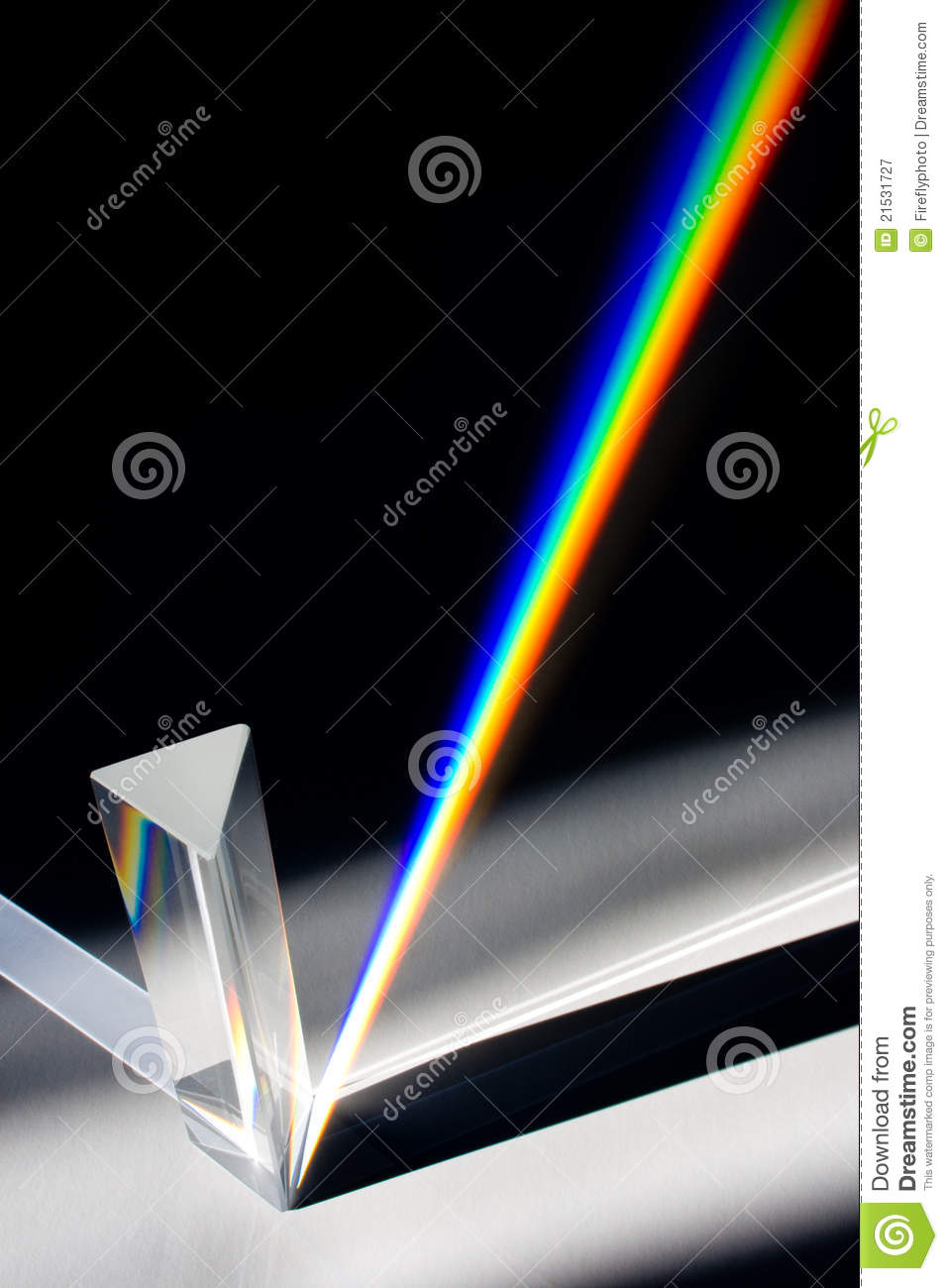 Diffraction of Sunlight through Glass Prism
