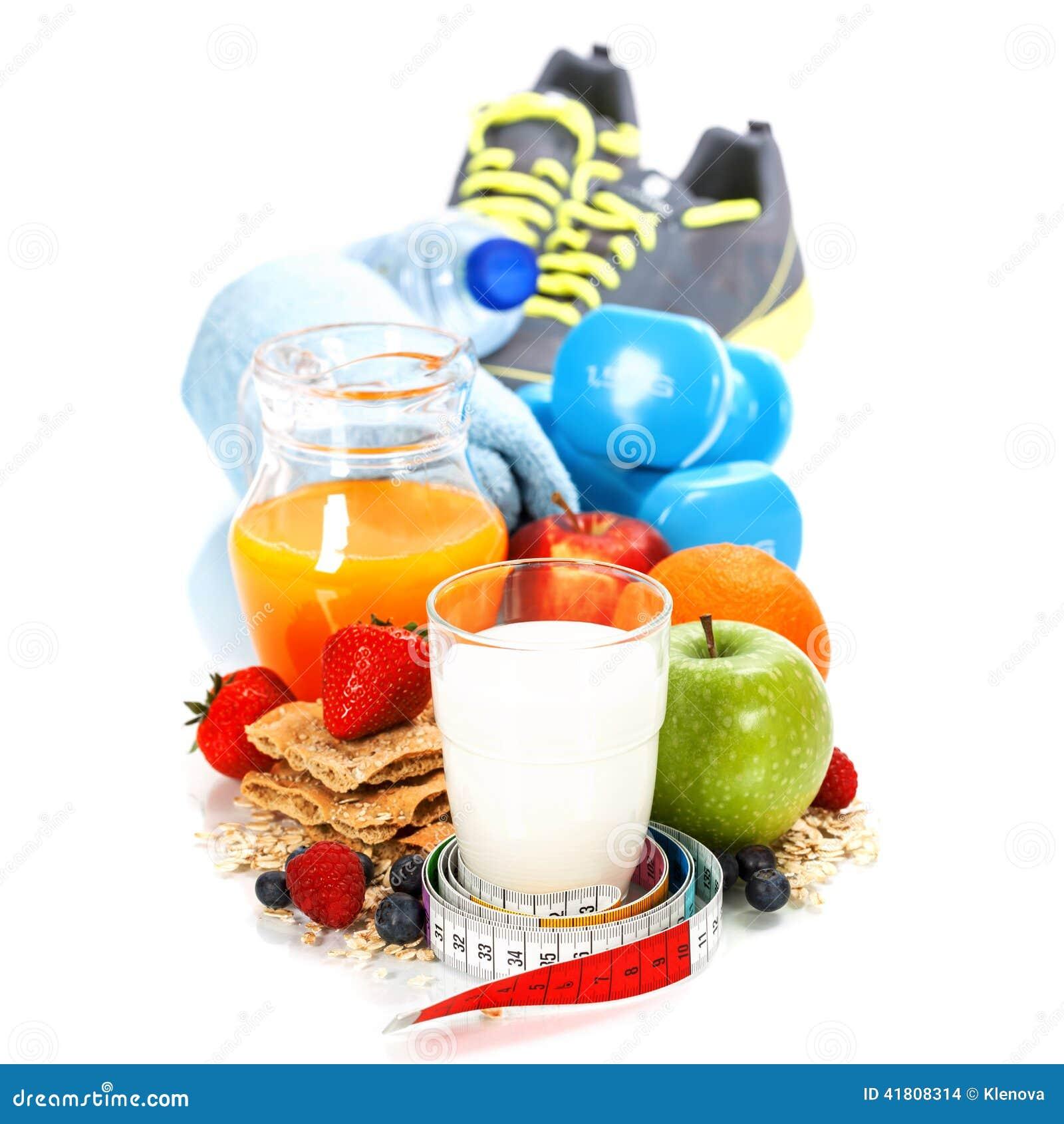Diff rents outils pour le sport et la nourriture saine photo stock image 41808314 - Cuisine soort ...