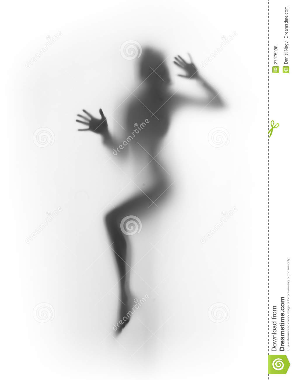 Diffuse woman body silhouette, legs, palms,