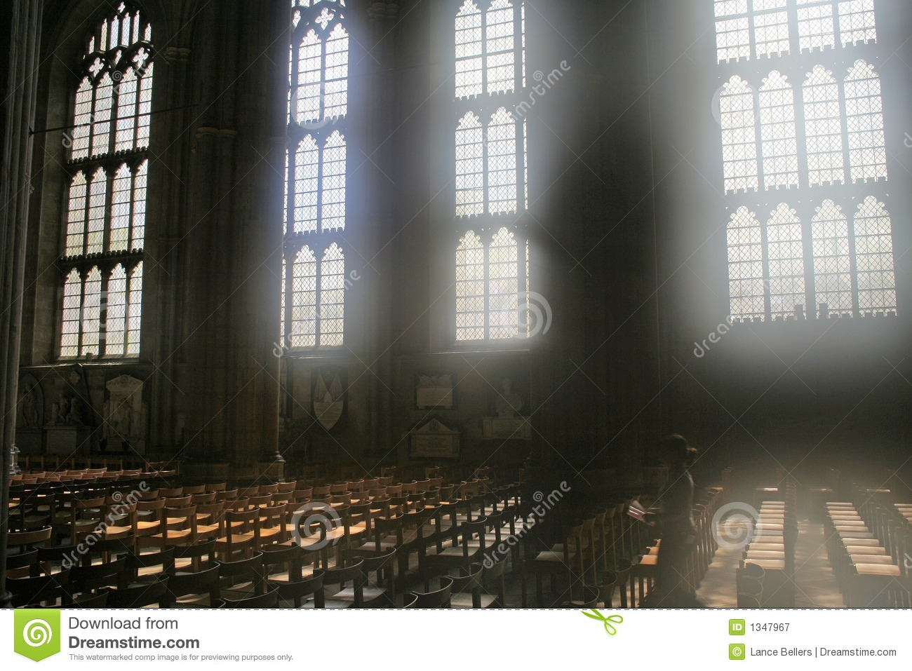 Diffused Light Through Cathedral Windows Stock Image - Image