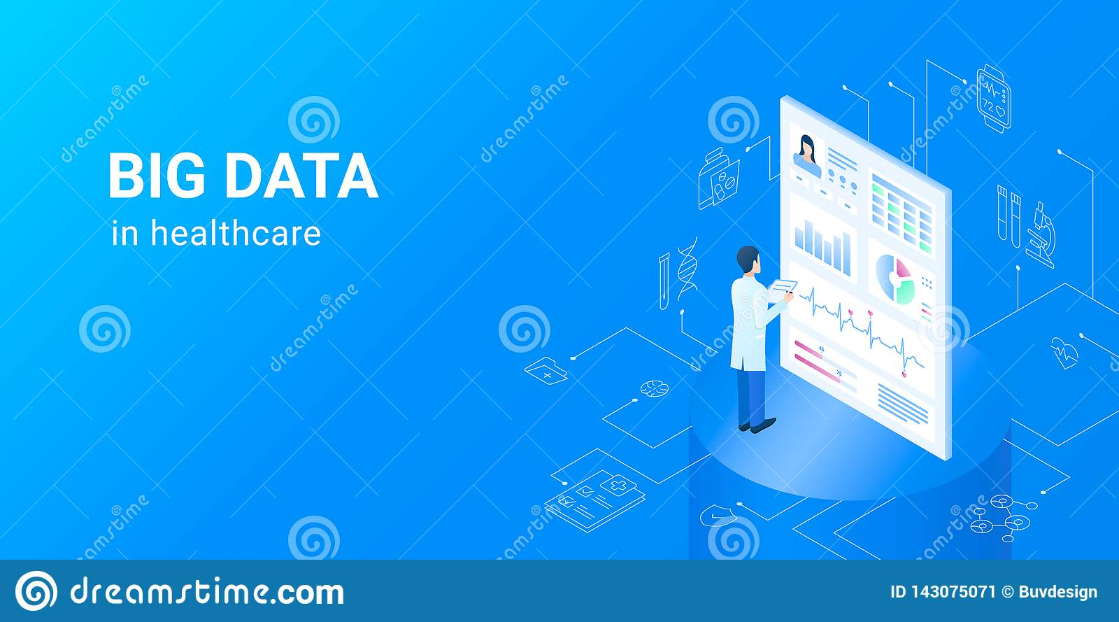 Dig Data In Healthcare - Electronic Health Data Sets  Stock