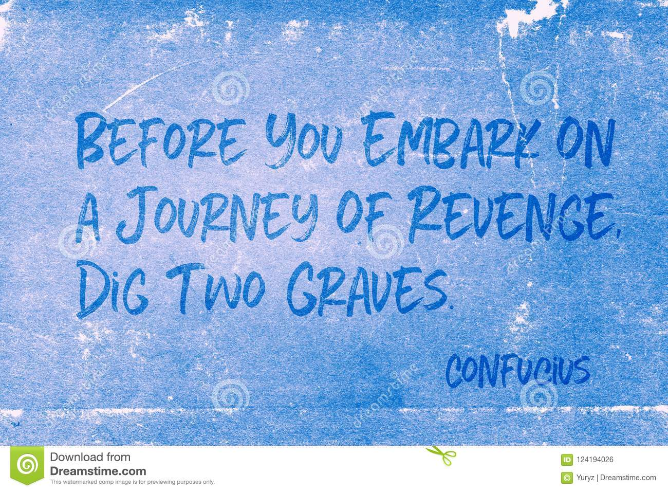 Dig Two Graves Confucius Stock Illustration Illustration Of Quote 124194026