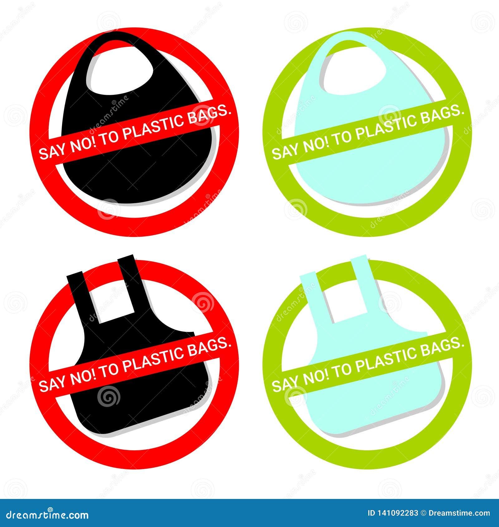 Diga NÃO aos sacos de plástico
