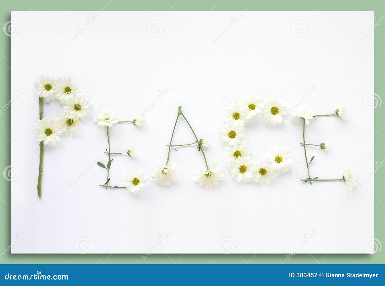 Diga-o com flores: Paz