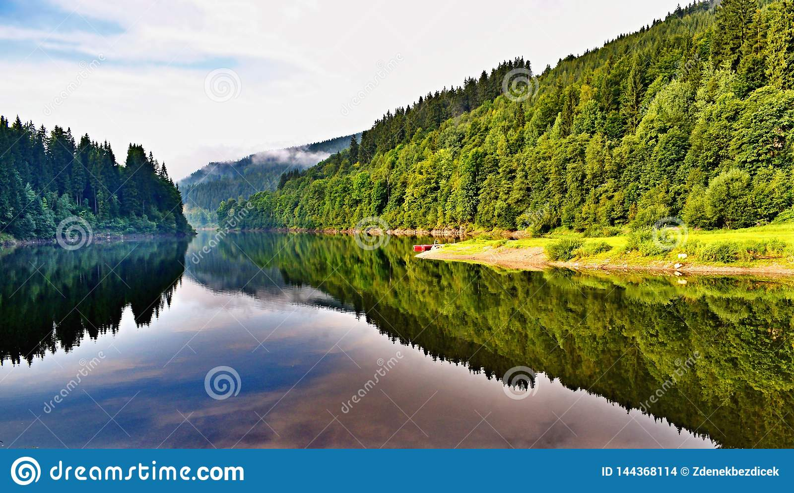 Diga sul fiume Elba in repubblica Ceca