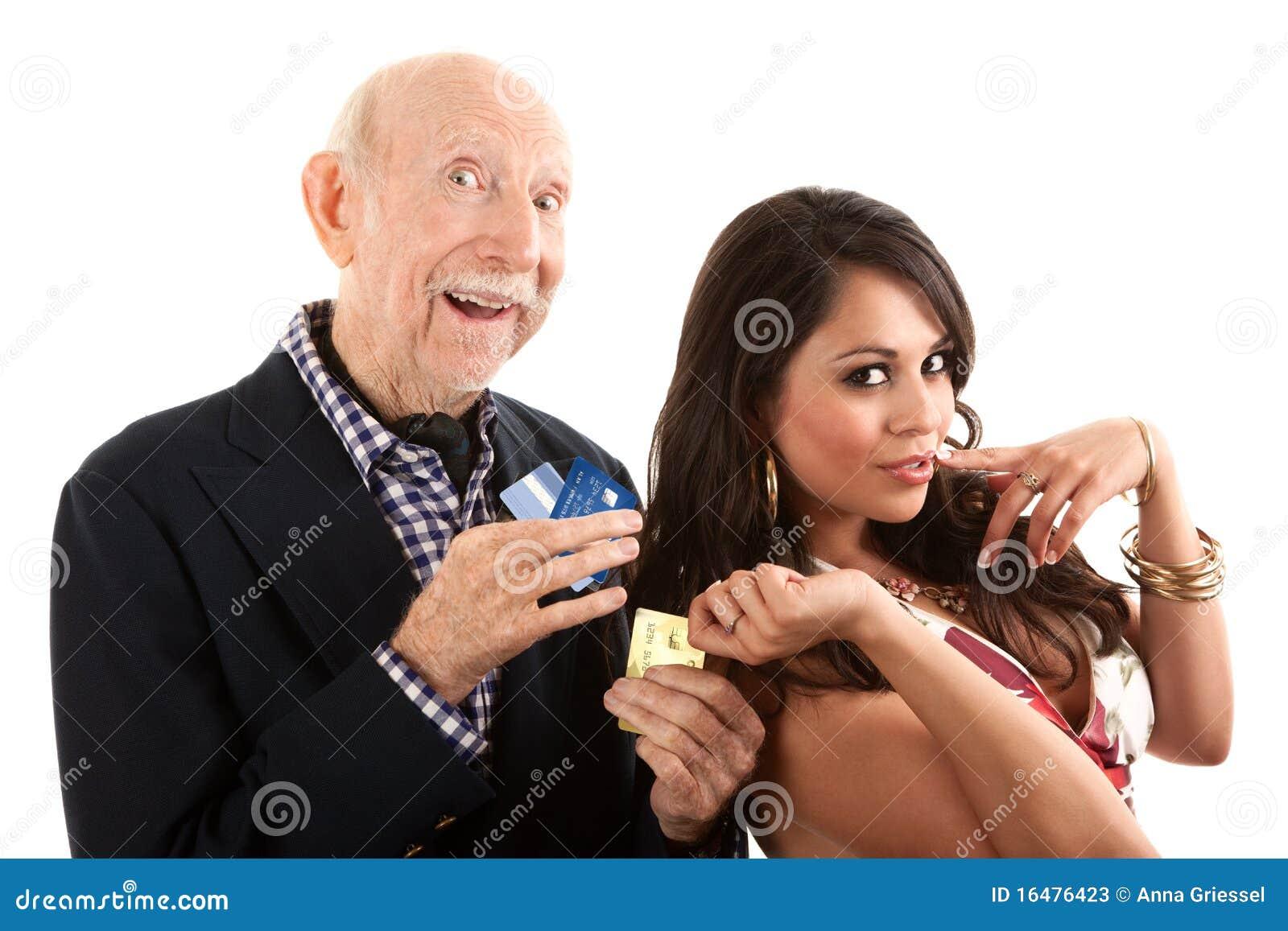 Digger ηλικιωμένη χρυσή σύζυγο&s