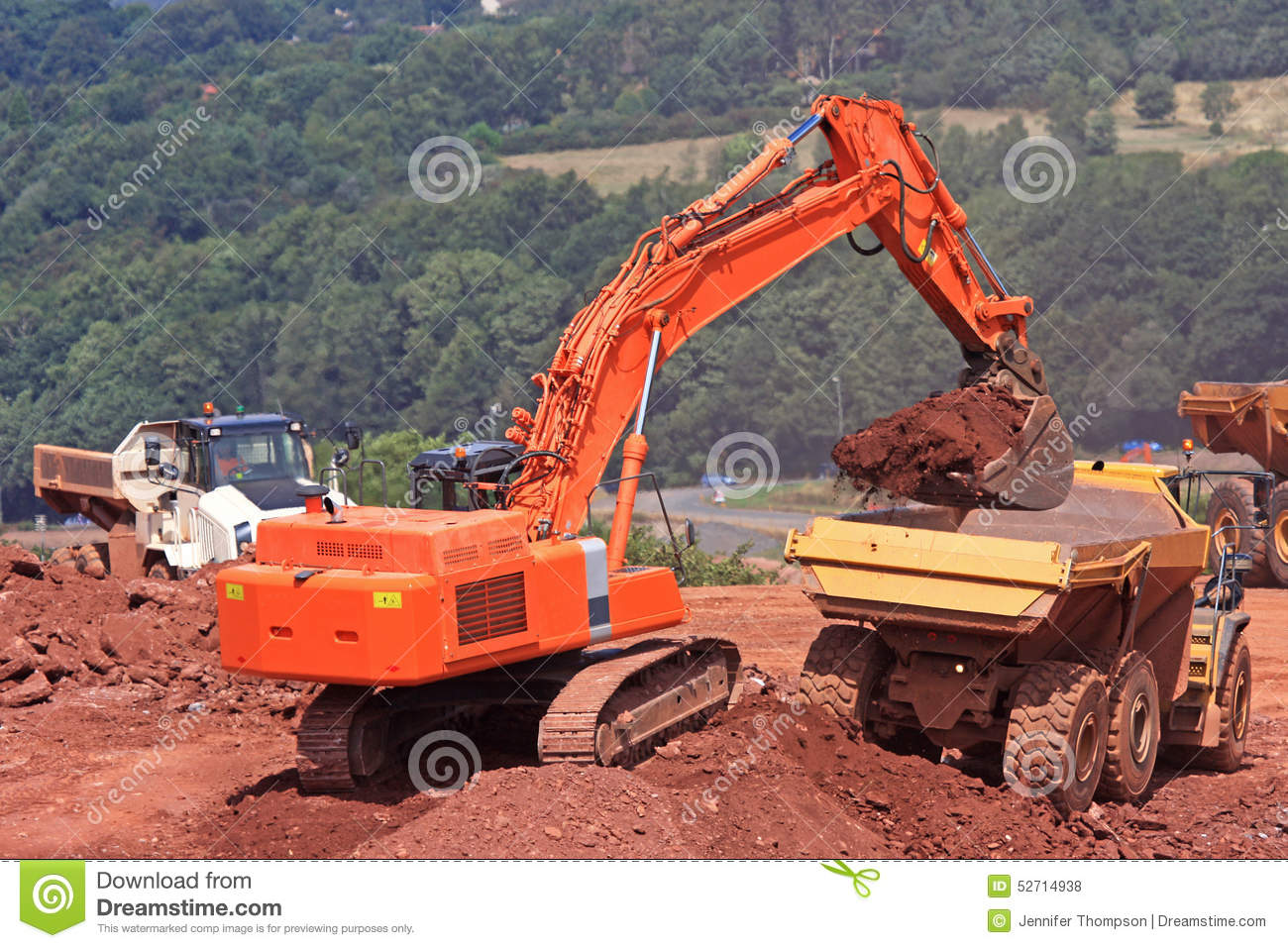 Diggers and Dump Truck stock photo. Image of breaker ...