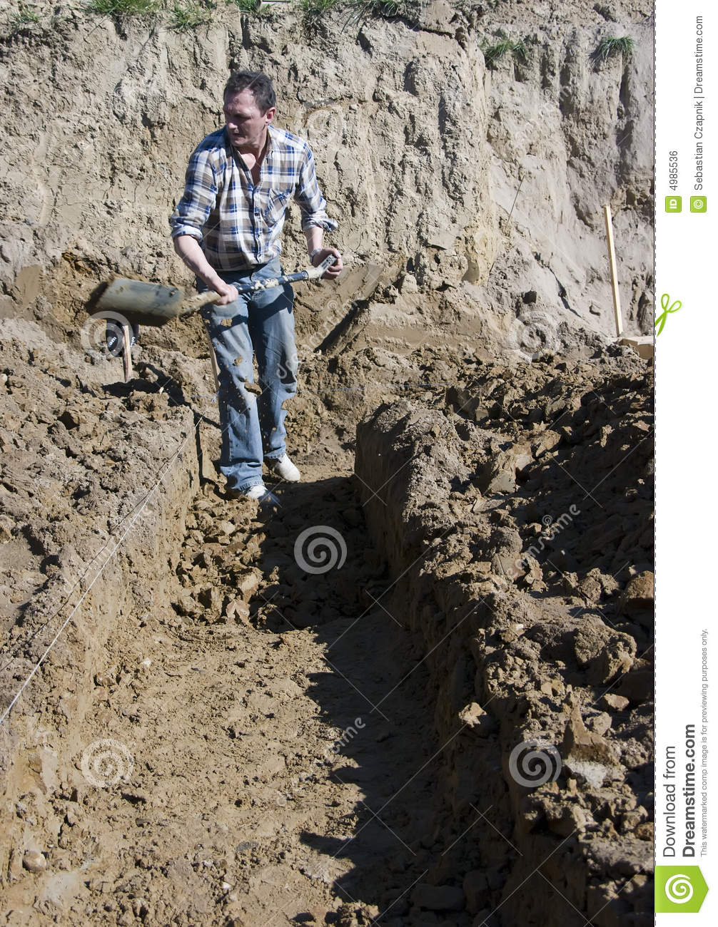 Digging house foundations royalty free stock image image for Digging foundation for house