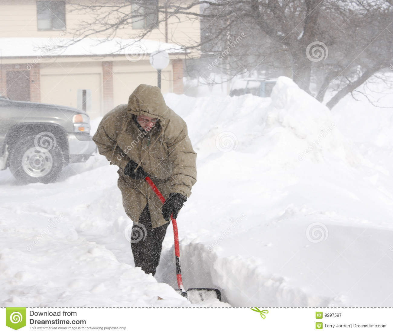 Digging out of a Blizzard.