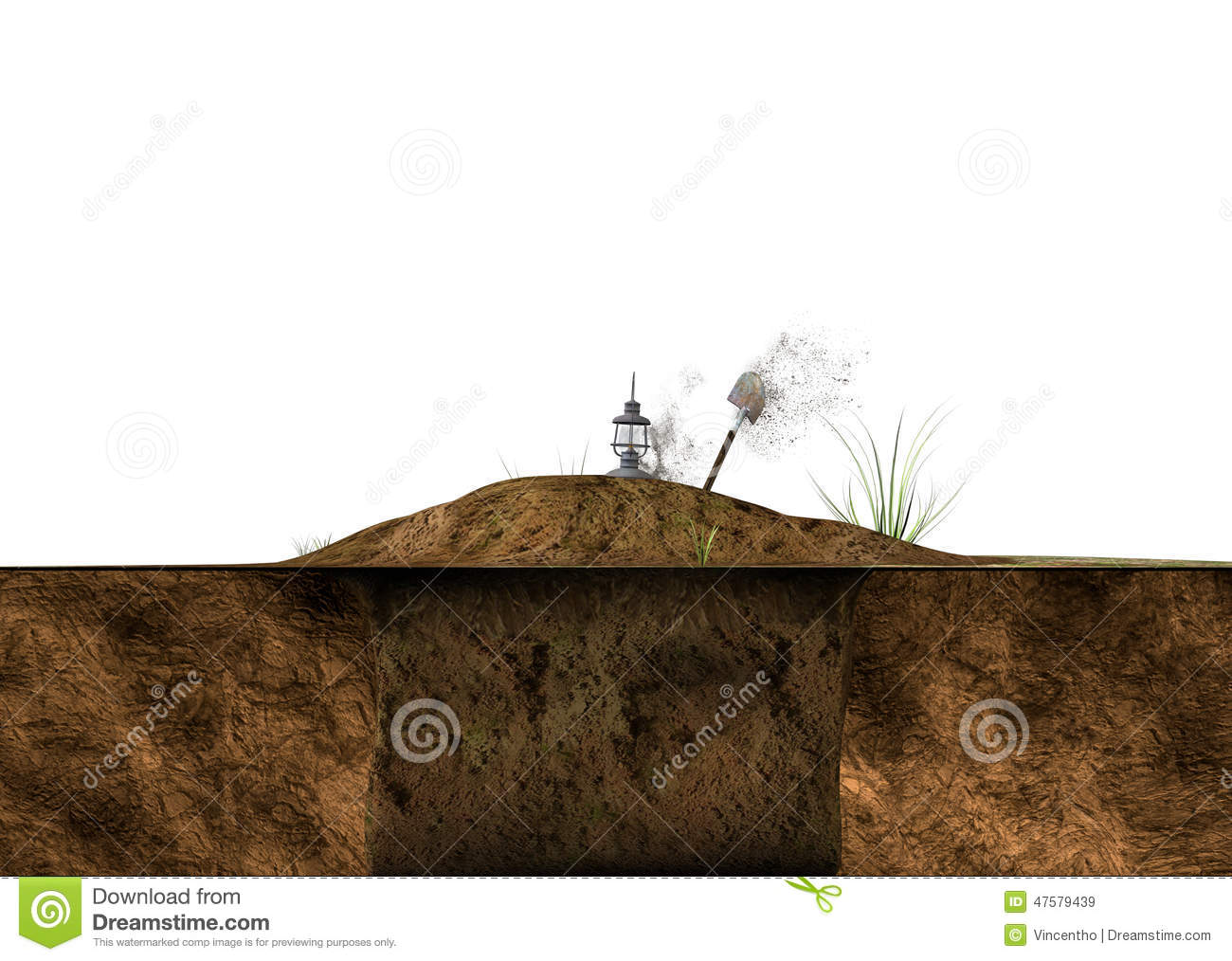 Digging soil ground on white illustration stock image for Digging ground dream meaning